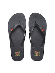 DC Men Black Spray Flip-Flops