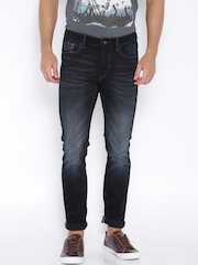 Flying Machine Navy Low-Rise Jackson Skinny Fit Jeans