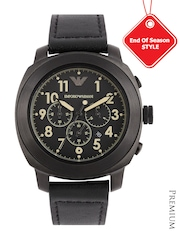 Emporio Armani Men Black Dial Chronograph Watch AR6061I