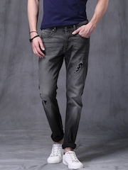 WROGN Charcoal Grey Slim Fit Jeans