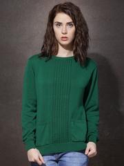 Roadster Women Green Patterned Sweater