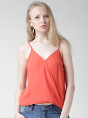 FOREVER 21 Coral Orange Crossover Top