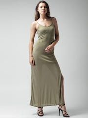 FOREVER 21 Olive Green Maxi Dress