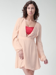 FOREVER 21 Peach-Coloured Tailored Dress