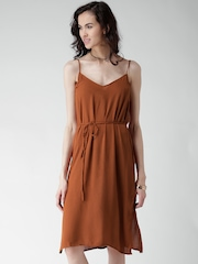 FOREVER 21 Rust Brown Midi Dress