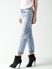 FOREVER 21 Blue Washed Straight Fit Jeans