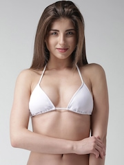 FOREVER 21 White Padded Bikini Bra 185746