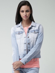 FOREVER 21 Light Blue Washed Denim Jacket
