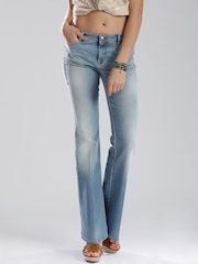 GAS Blue Washed Bell Bottom Jeans