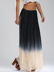 GAS Navy Ombre-Dyed Maxi Skirt
