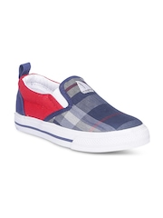West Bay Kids Blue & Red Casual Shoes