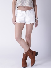 Moda Rapido White Shorts