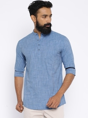 British Club Blue Short Kurta
