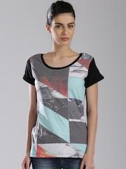 HRX by Hrithik Roshan Black Printed T-shirt