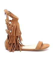 FOREVER 21 Women Brown Fringed Flats
