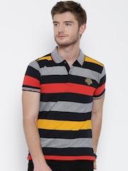 Status Quo Multicoloured Striped Polo T-shirt