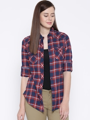 Pepe Jeans Blue & Red Checked Shirt