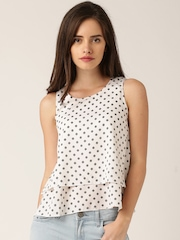 DressBerry Women White Printed Top