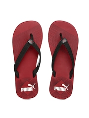 PUMA Men Black & Grey Printed Flip-Flops