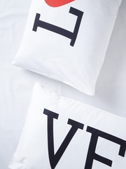 "Stoa Paris White Set of 2 Printed 18"" x 27"" Rectangular Pillow Covers"