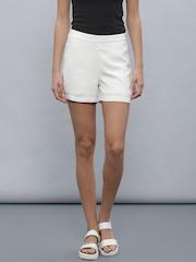 ether Women White Shorts