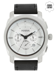 Fossil Men Silver-Toned Dial Chronograph Watch FS5038
