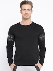 Campus Sutra Black T-shirt