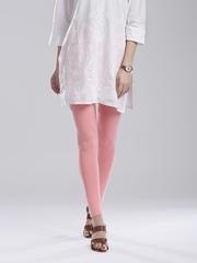 W Pink Ankle-Length Leggings
