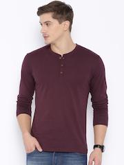 Highlander Burgundy Henley T-shirt