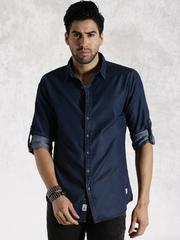 Roadster Blue Denim Casual Shirt