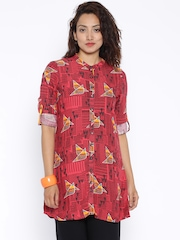 Global Desi Pink Printed Tunic