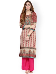 Jaipur Kurti Multicoloured Printed Kurta with Palazzo Trousers