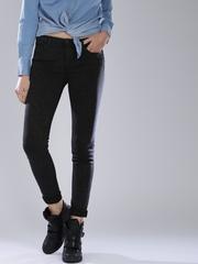 Levi's Black Printed Super-Skinny Jeans 710