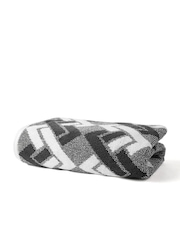 SPACES Finessence White & Black Patterned Cotton Bath Towel