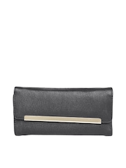 United Colors of Benetton Women Black Textured Wallet