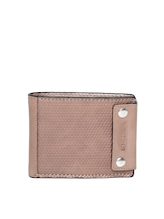 United Colors of Benetton Men Brown Textured Genuine Leather Wallet