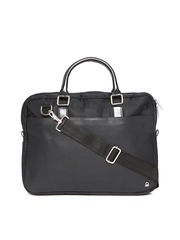 United Colors of Benetton Men Black Laptop Bag with Sling Strap