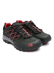 The North Face Men Black Storm Evo GTX Leather Hiking Shoes
