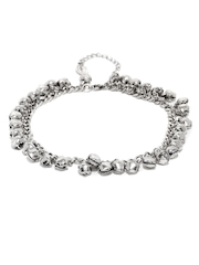 FunkyFish Silver-Toned Anklet