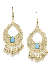 FunkyFish Gold-Toned Drop Earrings