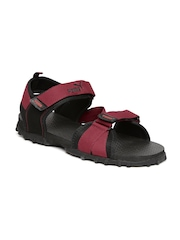 PUMA Men Maroon & Black Rio Sports Sandals