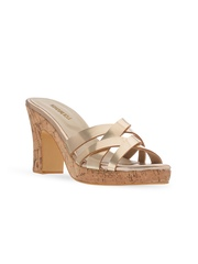 Signature Sole Women Gold-Toned Handcrafted Platforms