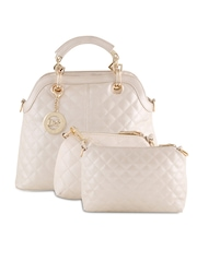 Dolce & Stela Cream-Coloured Quilted Handbag
