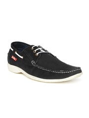 Lee Cooper Men Black Genuine Leather Casual Shoes