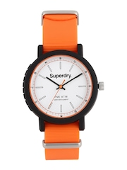 Superdry Men White Dial Campus Nato Watch SYG197O