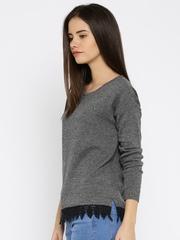 DressBerry Women Charcoal Grey Sweater