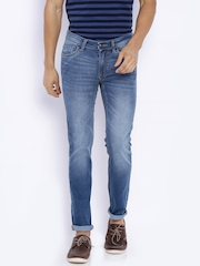 Flying Machine Blue Low-Rise Skinny Jeans