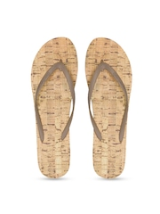 Dearfoams Women Brown Flip-Flops