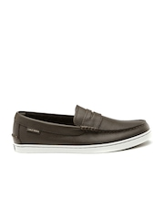 Cole Haan Men Brown Leather Slip-Ons