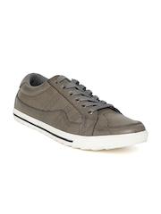Numero Uno Men Olive Brown Textured Sneakers